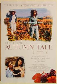 f041 AUTUMN TALE DS one-sheet movie poster '98 Eric Rohmer, French!