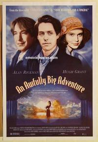 f042 AWFULLY BIG ADVENTURE one-sheet movie poster '95 Alan Rickman