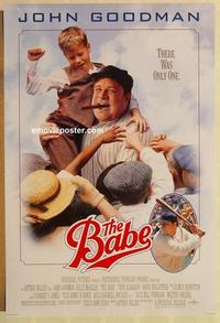 f044 BABE one-sheet movie poster '92 John Goodman, McGillis, baseball!