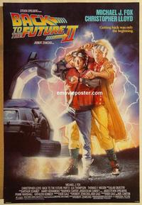f047 BACK TO THE FUTURE 2 DS one-sheet movie poster '89 Michael J. Fox, Lloyd
