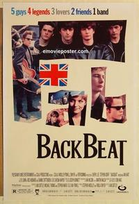 f048 BACKBEAT DS one-sheet movie poster '94 Stephen Dorff, The Beatles!