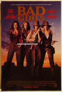 f050 BAD GIRLS DS advance one-sheet movie poster '94 Barrymore, Masterson
