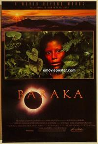 f054 BARAKA one-sheet movie poster '92 Ron Fricke photo documentary!