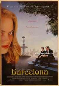 f056 BARCELONA DS one-sheet movie poster '94 Whit Stillman, Spain!