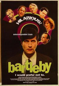f057 BARTLEBY one-sheet movie poster '01 David Paymer, Crispin Glover