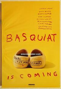 f058 BASQUIAT teaser one-sheet movie poster '96 Del Toro, Jeffrey Wright