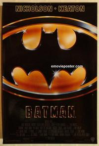 f061 BATMAN one-sheet movie poster '89 Michael Keaton, Nicholson