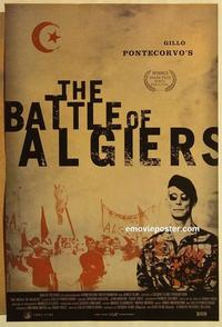 f064 BATTLE OF ALGIERS one-sheet movie poster R03 Gillo Pontecorvo