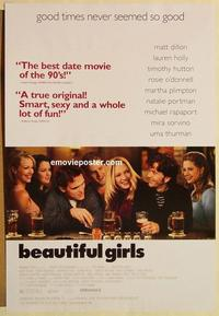 f068 BEAUTIFUL GIRLS one-sheet movie poster '96 Matt Dillon, Uma Thurman