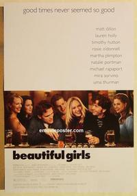 f069 BEAUTIFUL GIRLS DS one-sheet movie poster '96 Matt Dillon, Uma Thurman