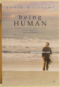 f072 BEING HUMAN DS one-sheet movie poster '93 Robin Williams, Forsyth