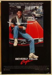 f078 BEVERLY HILLS COP one-sheet movie poster '84 Eddie Murphy, Reinhold