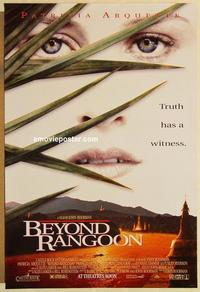 f080 BEYOND RANGOON DS advance one-sheet movie poster '95 Arquette, Boorman