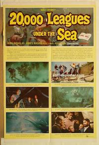 k009 20,000 LEAGUES UNDER THE SEA style B one-sheet movie poster '55 Verne