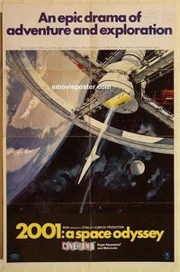 k011 2001 A SPACE ODYSSEY one-sheet movie poster '68 Kubrick, Cinerama!