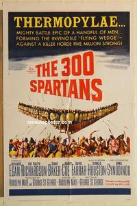 k014 300 SPARTANS one-sheet movie poster '62 Richard Egan, Diane Baker