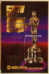 k019 55TH ANNUAL ACADEMY AWARDS one-sheet movie poster '83 Oscar image!