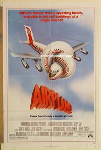 k027 AIRPLANE one-sheet movie poster '80 Lloyd Bridges, Leslie Nielsen