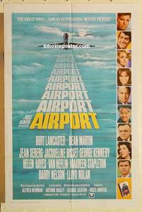 k028 AIRPORT int'l one-sheet movie poster '70 Burt Lancaster, Dean Martin