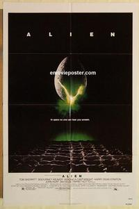 k034 ALIEN one-sheet movie poster '79 Sigourney Weaver, sci-fi!