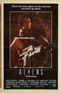 k036 ALIENS int'l one-sheet movie poster '86 James Cameron, Sigourney Weaver