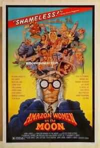 k040 AMAZON WOMEN ON THE MOON one-sheet movie poster '87 William Stout art!