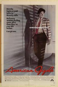 k041 AMERICAN GIGOLO one-sheet movie poster '80 Gere as male prostitute!