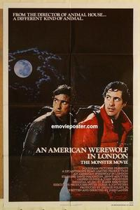 k043 AMERICAN WEREWOLF IN LONDON one-sheet movie poster '81 John Landis