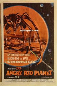 k047 ANGRY RED PLANET one-sheet movie poster '60 Gerald Mohr, AIP sci-fi!