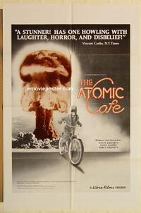 k060 ATOMIC CAFE one-sheet movie poster '82 nuclear bomb documentary!