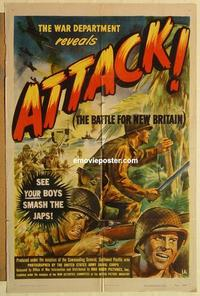 k061 ATTACK, THE BATTLE OF NEW BRITAIN one-sheet movie poster '44 WWII