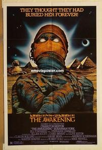 k062 AWAKENING one-sheet movie poster '80 Charlton Heston, Egypt!
