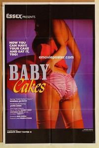 k063 BABY CAKES one-sheet movie poster '82 super sexy Rhonda Jo Petty!