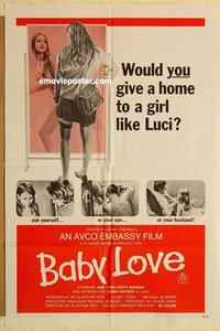 k064 BABY LOVE one-sheet movie poster '69 bad girl teen sexploitation!