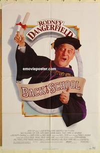 k066 BACK TO SCHOOL one-sheet movie poster '86 Dangerfield, Downey Jr.