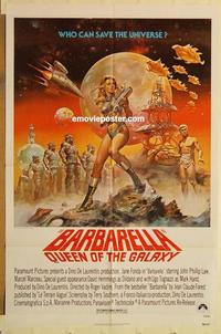 k069 BARBARELLA one-sheet movie poster R77 Jane Fonda, sexy different art!