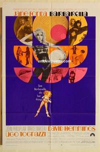 k071 BARBARELLA style B one-sheet movie poster '68 Jane Fonda, Roger Vadim