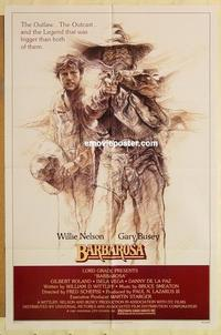 k072 BARBAROSA one-sheet movie poster '82 Willie Nelson, Gary Busey