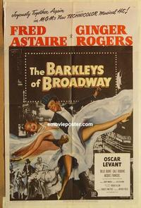 k073 BARKLEYS OF BROADWAY one-sheet movie poster '49 Astaire & Rogers