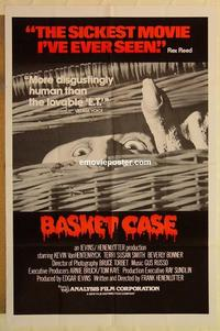 k074 BASKET CASE one-sheet movie poster '82 evil twin horror comedy!