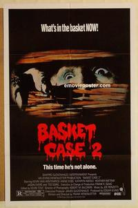 k075 BASKET CASE 2 one-sheet movie poster '90 horror comedy sequel!