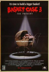 k076 BASKET CASE 3 video one-sheet movie poster '92 horror comedy!