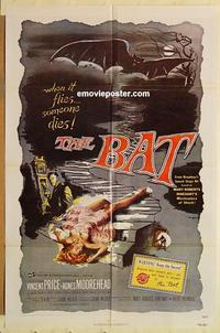 k077 BAT one-sheet movie poster R80s Vincent Price, Moorehead