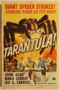 k001 TARANTULA one-sheet movie poster '55 gigantic spider horror!