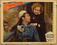 v002 MOROCCO movie lobby card '30 best Gary Cooper & Marlene Dietrich!