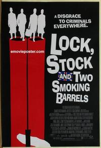 g291 LOCK, STOCK & TWO SMOKING BARRELS DS one-sheet movie poster '98 Ritchie