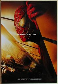 g434 SPIDER-MAN DS 'Twin Towers' teaser one-sheet movie poster '02 Raimi