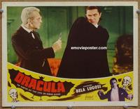 h353 DRACULA movie lobby card #3 R51 fantastic Bela Lugosi image!