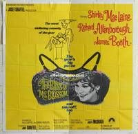 k024 BLISS OF MRS BLOSSOM six-sheet movie poster '68 Shirley MacLaine