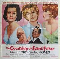 k031 COURTSHIP OF EDDIE'S FATHER six-sheet movie poster '63 Glenn Ford